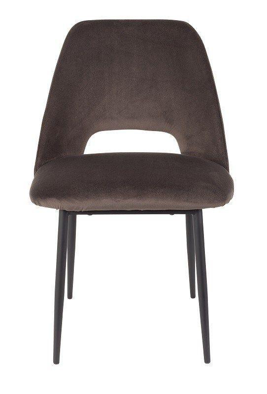 homii+-+Cinderella+Spisebordsstol+-+Mørkegrå+velour+-+