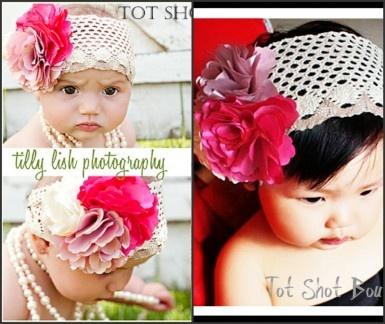 flower girl headband 12.99