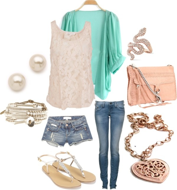 """""""Floral lace shirt with Cardigan"""" by taylorratliff on Polyvore"""