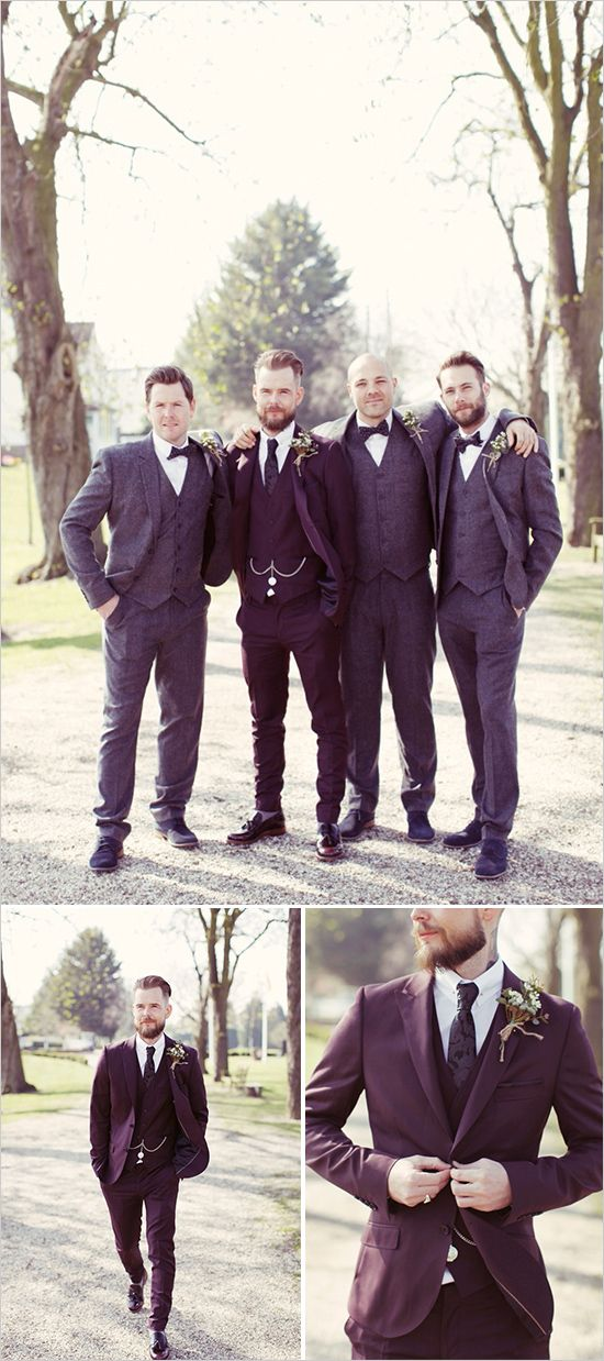 rustic groomsmen attire.  Captured By: Rebecca Wedding Photography http://www.weddingchicks.com/2014/07/31/heart-filled-rustic-wedding/