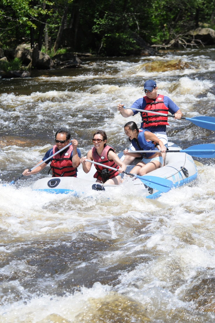 Take on the river rapids during a whitewater rafting experience in the #PoconoMtns!