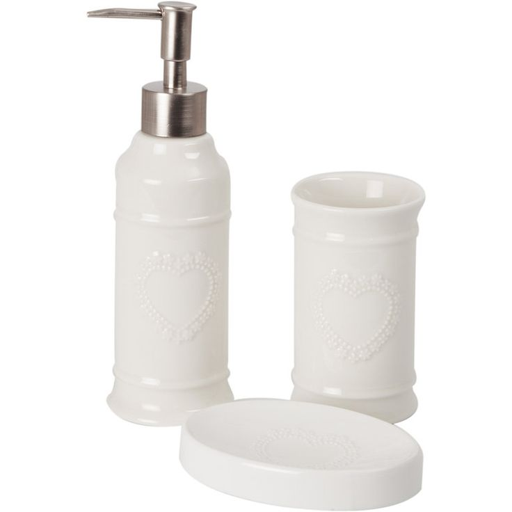 SET  BAGNO 3 PZ CUORE  - ANGELICA HOME&COUNTRY euro 22