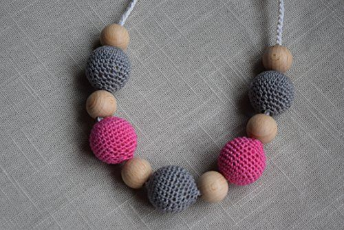 Beautiful teething & sensory necklaces for babies to have a chew on - great for baby-wearing or breastfeeding mums. Perfect for easing the sore gums and teething discomfort that usually coincides with weaning. And they look nice for mum too!