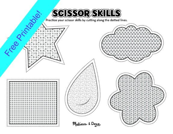 Scissor Skills Activities for Kids - 2 Printables Printables