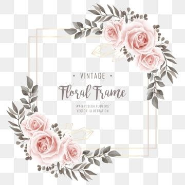 Wedding Watercolor Flower Decoration Frame Background Pattern Flower Png Transparent Clipart Image And Psd File For Free Download In 2020 Watercolor Flowers Flower Frame Png Watercolor Wedding