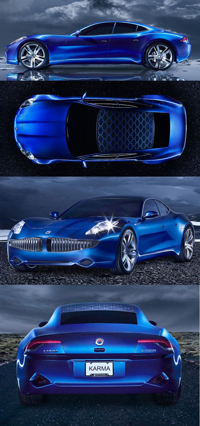 ✤ Fisker-Karma-rear-view solar panel eco friendly car...