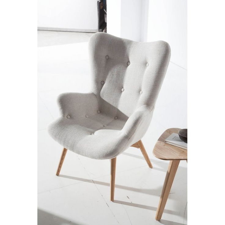 Angel cerda lounge chair button back and ash wooden legs - Leroy merlin sentinelle ...