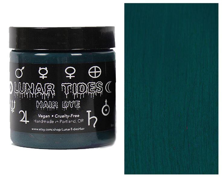 Dark Teal Hair Dye  https://www.etsy.com/listing/294631251/new-color-dark-teal-hair-dye Lunar Tides