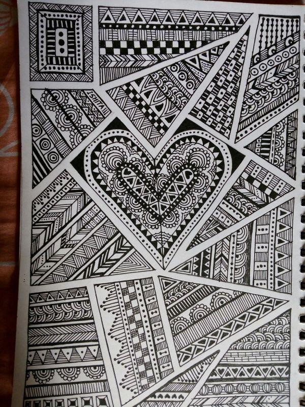 40 Creative Doodle Art Ideas To Practice In Free Time Sharpie Doodles Doodle Art Designs Zentangle Art