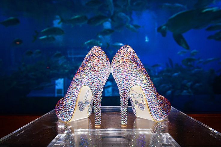 These dazzling bridal shoes at a Walt Disney World wedding reception had us at hello. Photo: Jacob, Disney Fine Art Photography