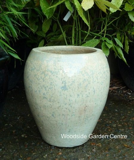 Glacier White Glazed Noodle Pot Planter | Woodside Garden Centre | Pots To  Inspire