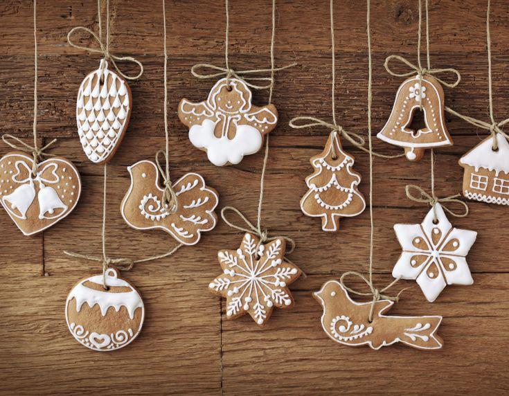 Новогоднее имбирное печенье.