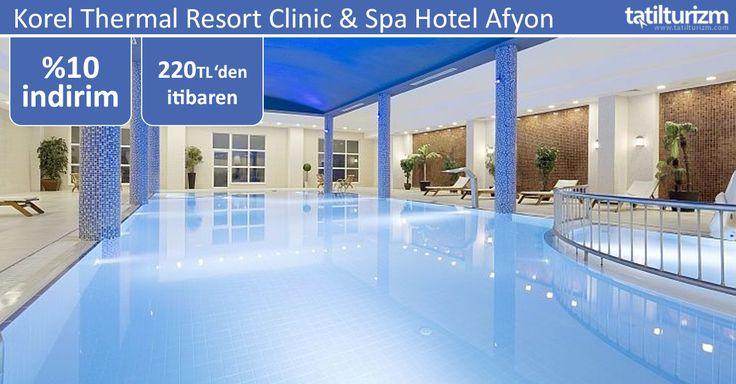 Korel Thermal Resort Clinic & Spa Hotel Afyon'da doğanın şifalı elleri ile yenilenin... 220 TL'den başlayan fiyatlarla şimdi rezervasyon yaptırın
