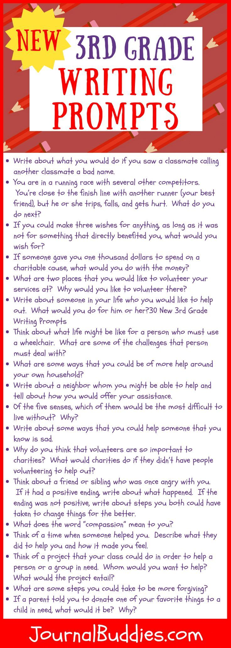 3rd Grade Writing Prompts 3rd Grade Writing 3rd Grade Writing Prompts Writing Prompts For Kids