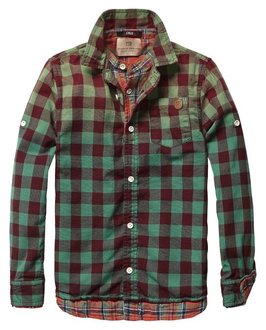 Double Layer Check Shirt - Scotch & Soda