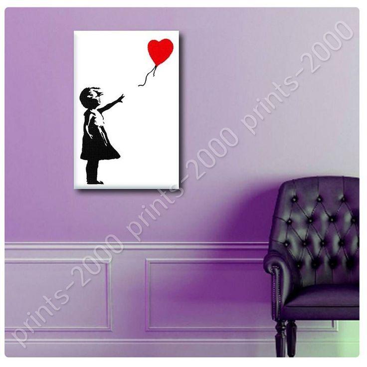 Poster Or Sticker Decals Vinyl Balloon Girl Banksy Posters For Bedroom Artwork