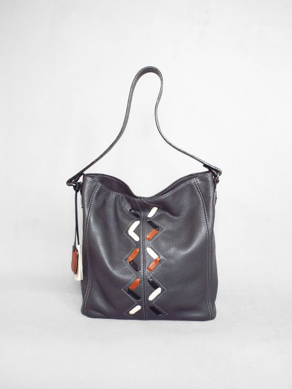 Gray leather hobo bag. Grey leather shoulder bag. Leather by 5plus