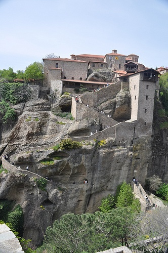 METEORA, GREECE: Entrance to one of the Monasteries Visit@ http://themostalive.com/meteora-greece-a-hard-act-to-follow/