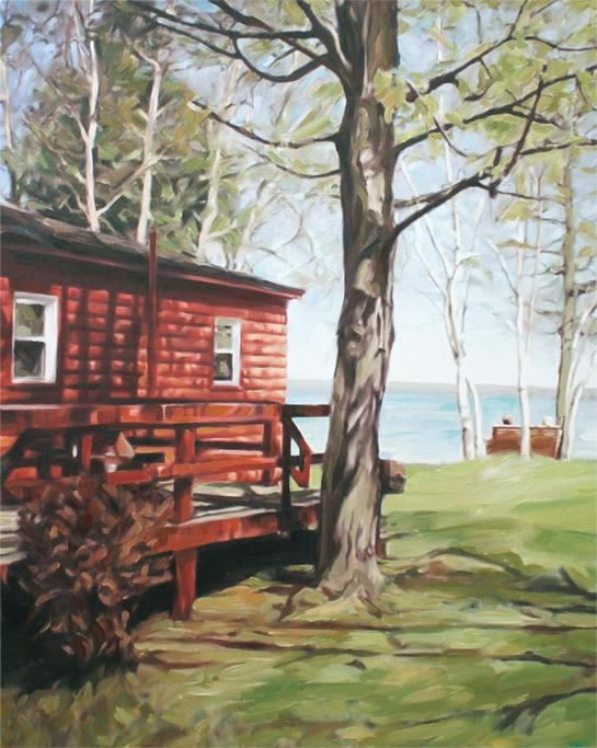 Cottage Painting  Custom Painting  Personalized Oil Painting