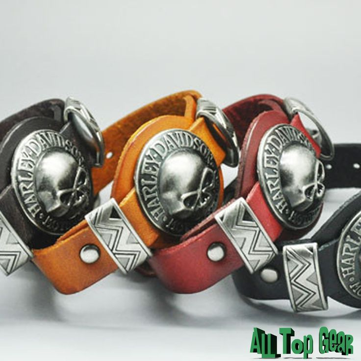 harley-davidson genuine leather bracelet from all top gear