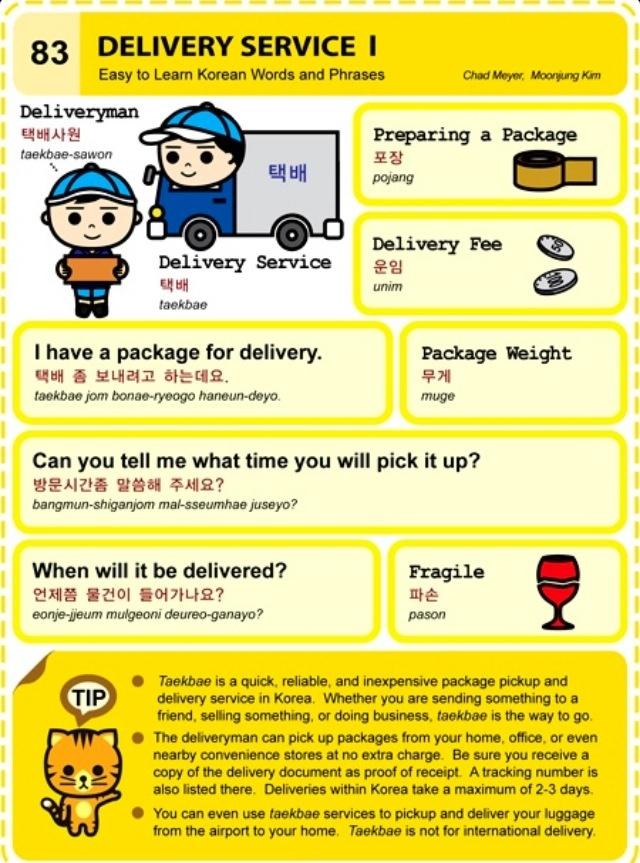 Learning Korean - Delivery Service I