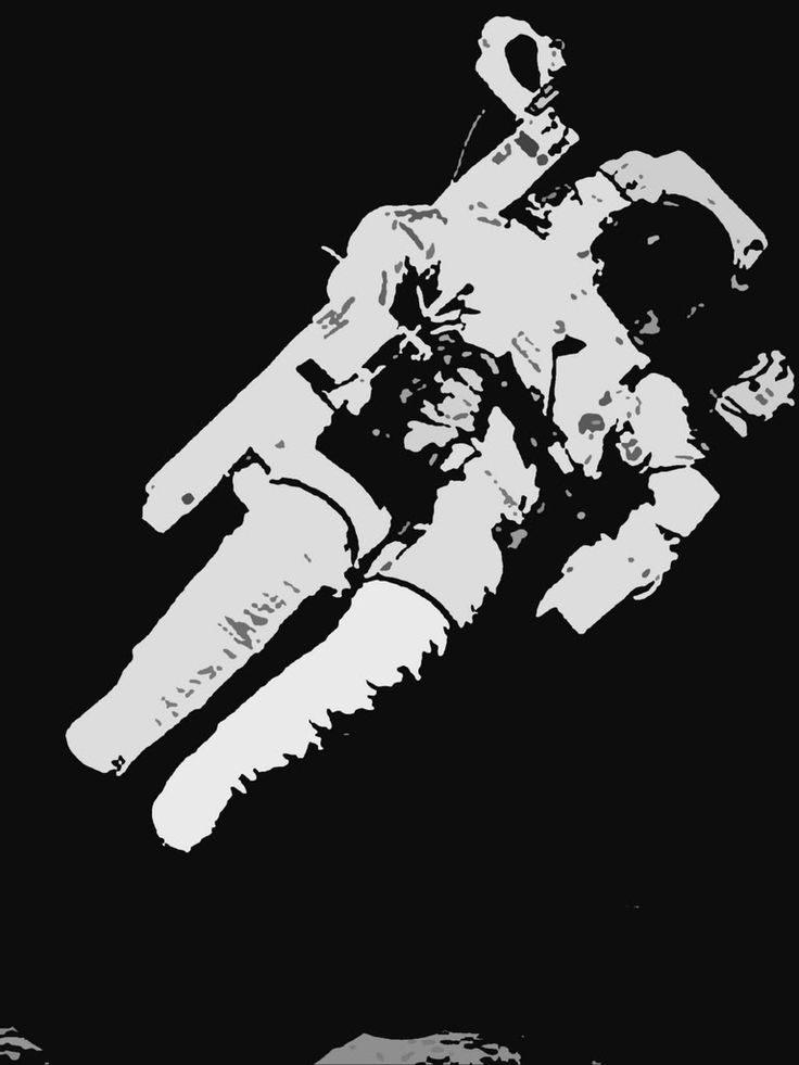 simple astronaut stencil - photo #8