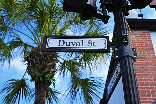 Duval St in Key West--lots of trouble here during spring ...