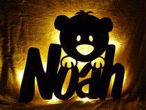 Teddy Namenslampe Kinderlampe Schlummerlicht Lese