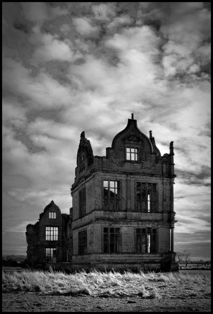 The Moreton Corbet Castle in Shropshire, England, is the ruin of the medieval castle and Tudor manor house of the Corbets. Destroyed during the English civil war 1642-1651. The whole story: http://en.wikipedia.org/wiki/Moreton_Corbet_Castle