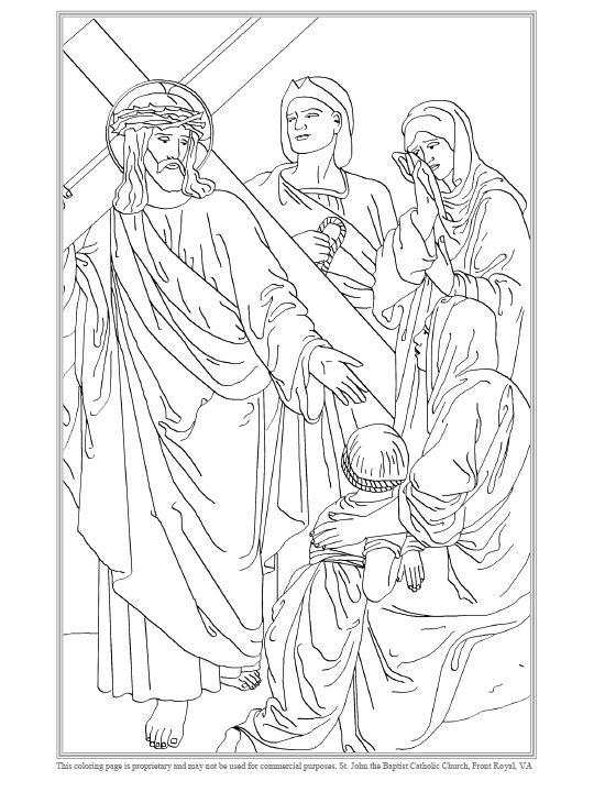 Achte Station des Kreuzes Malvorlagen   – Christliche Zeichnungen