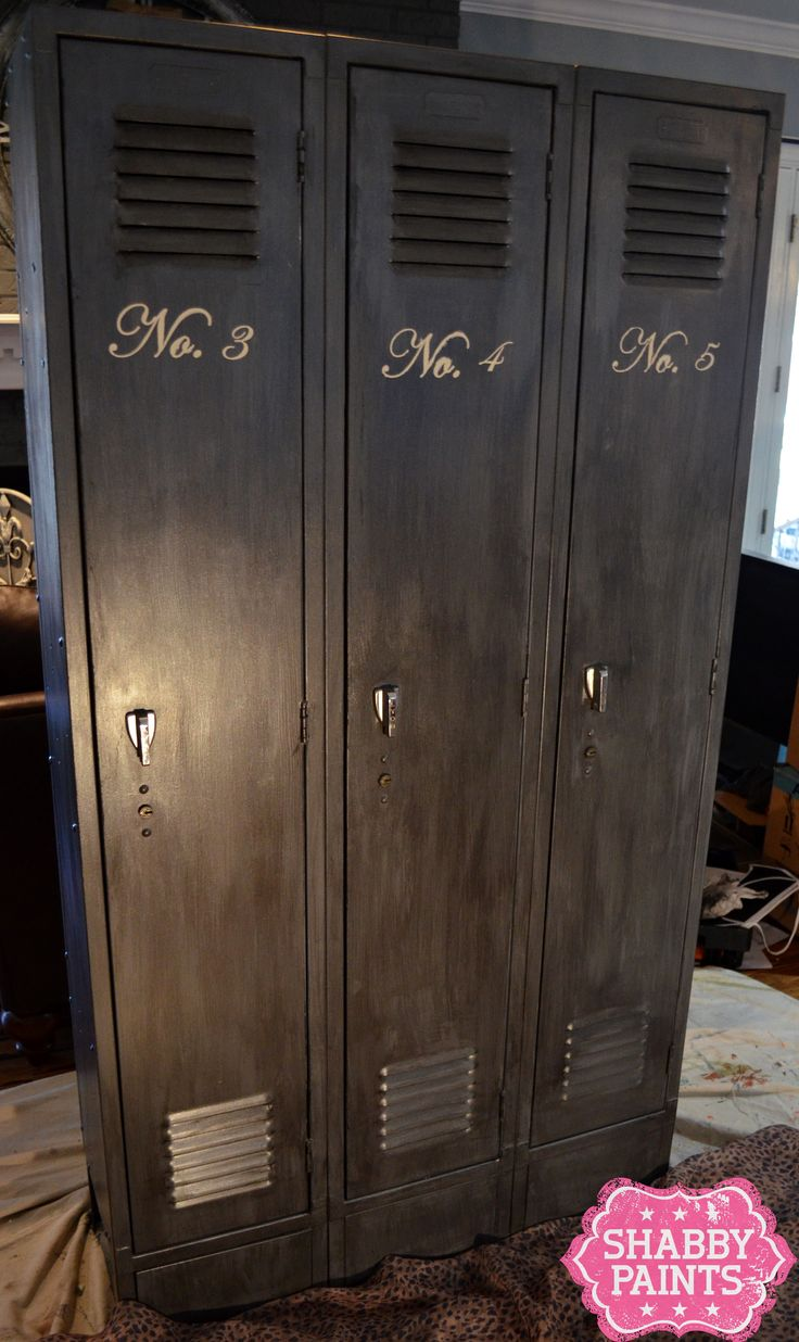 School Lockers get new life with Chalked Paint and Shimmer Finish - Shabby Paints