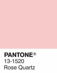 Pantone 2016 Color of the Year  #pantone2016 #pantone131520 #rosequartz @sophiekateloves