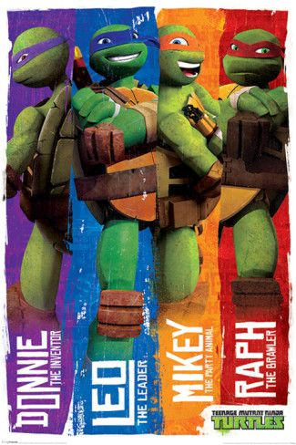 Teenage Mutant Ninja Turtles (Profiles) Posters at AllPosters.com