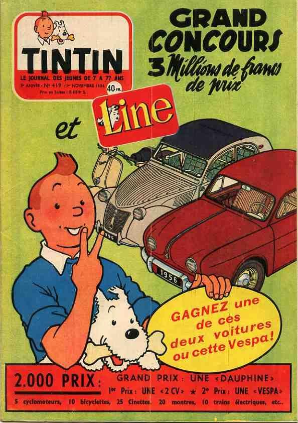 Grand concours de Tintin et de Line