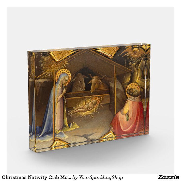 Christmas Nativity Crib Mother Mary Baby Jesus Award #christmasdecor #christmasgifts #christmas #nativity #christian #giftideas