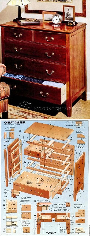 Cherry Dresser Plans - Furniture Plans and Projects   WoodArchivist.com