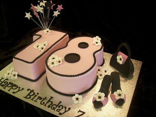 Best Torte  Anni Images On Pinterest Th Birthday Cake - Happy birthday 18 cake