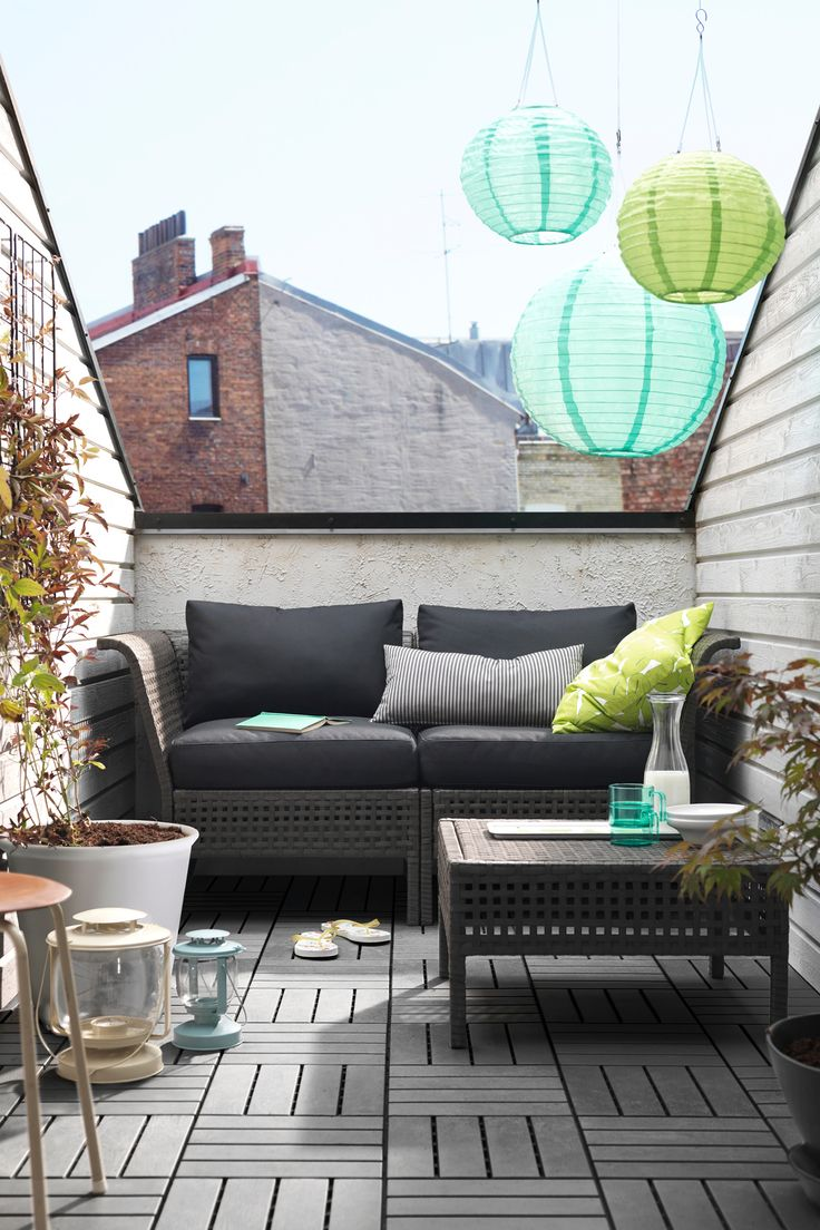 An outdoor oasis among the rooftops.Featured Products KUNGSHOLMEN/KUNGSÖ KUNGSHOLMEN SOLVINDEN (Source: everyday.ikea.com)