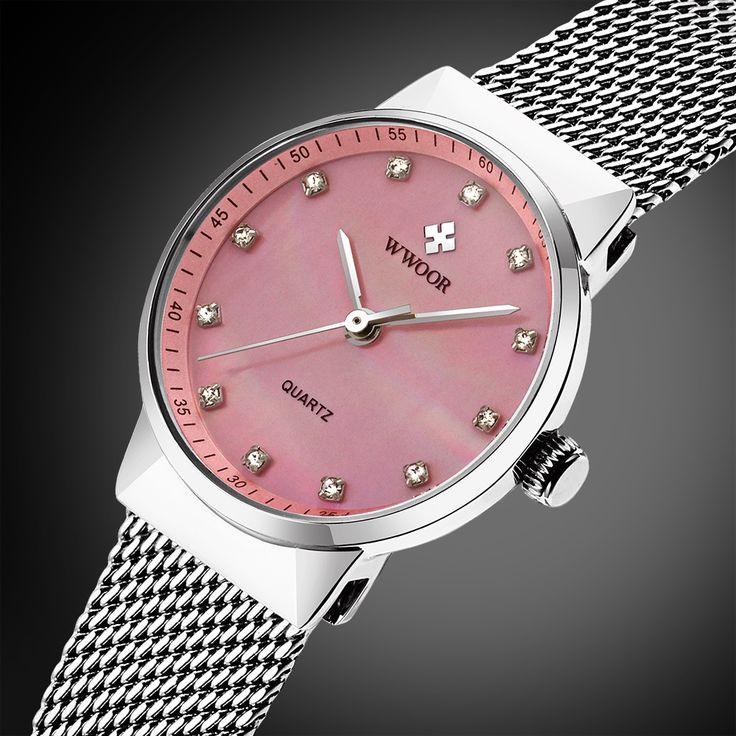 WWOOR New Top Luxury Women Watch Brand Ladies Watches Ultra Thin Stainless Steel Mesh Band Quartz Wristwatch Fashion casual - Online Shopping for Watches