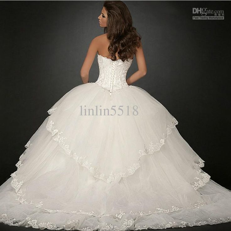 huge ball gown wedding dress | ... Big Skirt Bride Ball Gown Wedding Dresses 2013 Buy Dress Get Gloves
