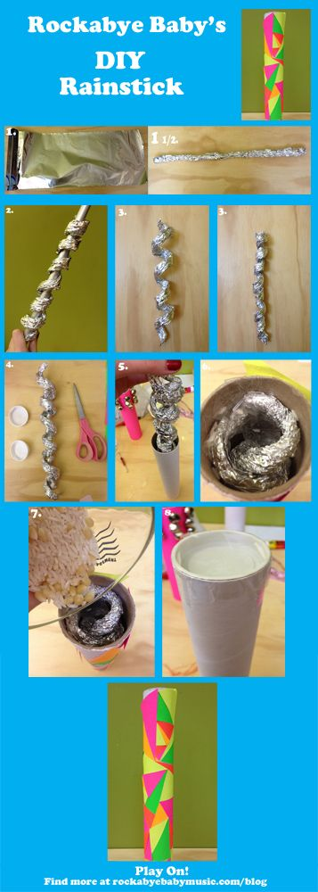 DIY small rainstick, using aluminum foil instead of nails for sound