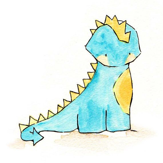 Dragon Prince -- Nursery Art Dragon. Dinosaur