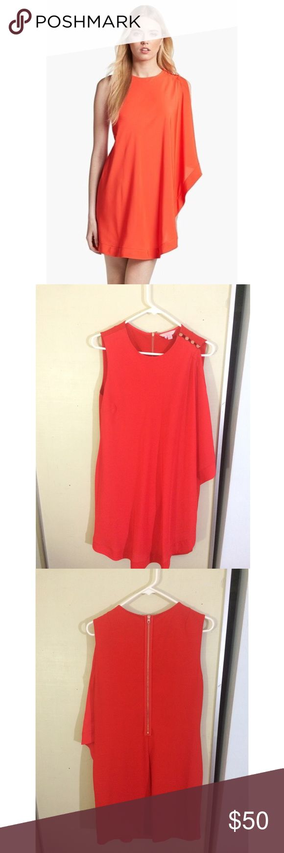 Ted Baker Red Dress Stunning simple and elegant red dress by Ted Baker! Worn once and then has remained untouched in the closet! Because the designer's sizing is unique we've also included a copy of the sizing guide. Ted Baker London Dresses