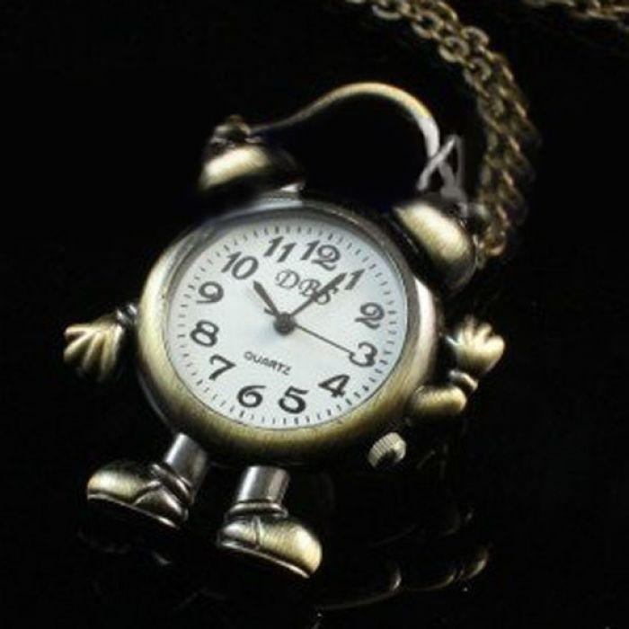 Relógio de bolso desenho animado | Relógios | | TriClick por R$39.50