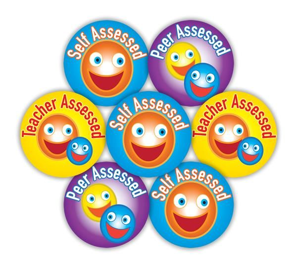 Self/Peer/Teacher Assessed Midi stickers. 19mm Stickers. 245 per pack.