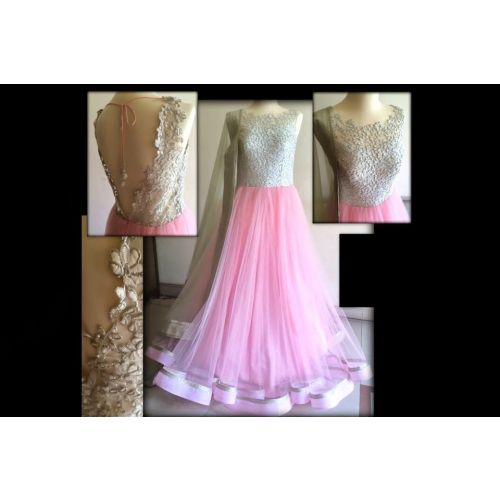 Exclusive Designer Pink Anarkali Gown -297