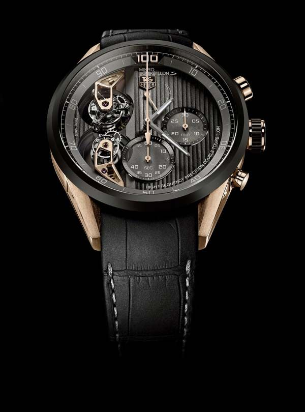 TAG Heuer MikrotourbillonS black Background - all for the reasonable sum of $275,000