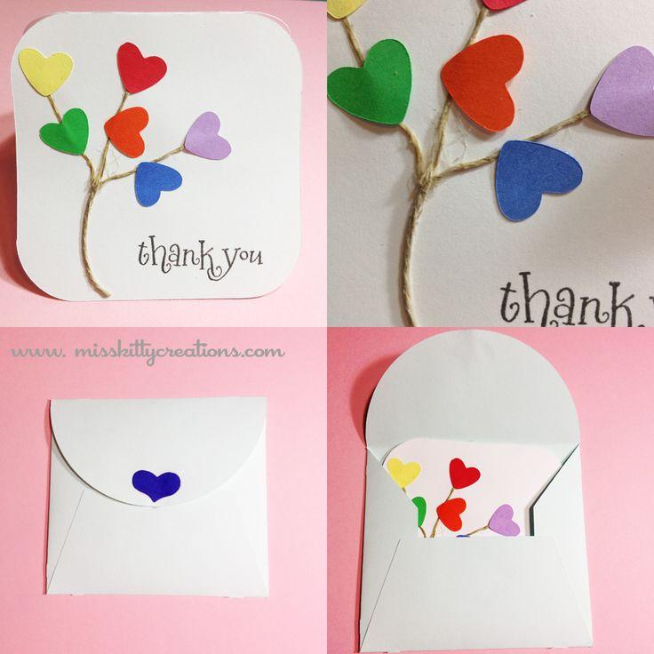 wedding thank you cards time limit%0A Cricut Thank You Card  I made this easy Thank You card using Wild Card