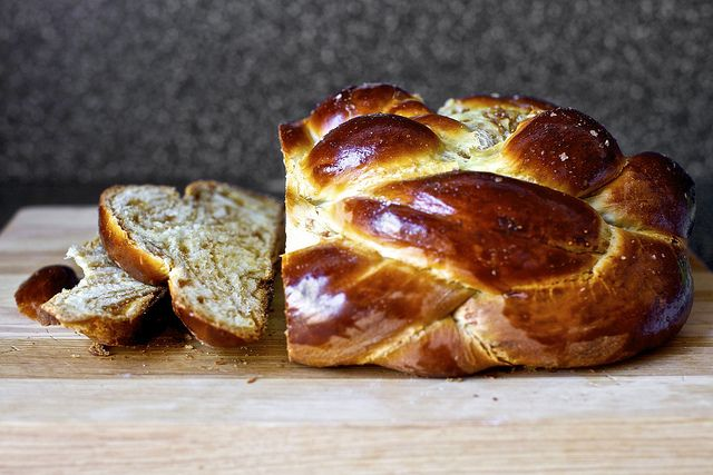 fig, olive oil and sea salt challah from smitten kitchen