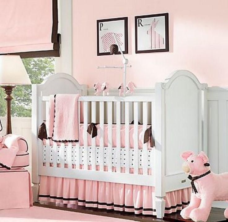 la combinacin marrn con rosado es muy utilizado para la habitacin de una nia